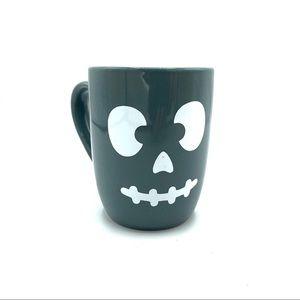 Spooky Halloween skeleton gray coffee mug 12 oz